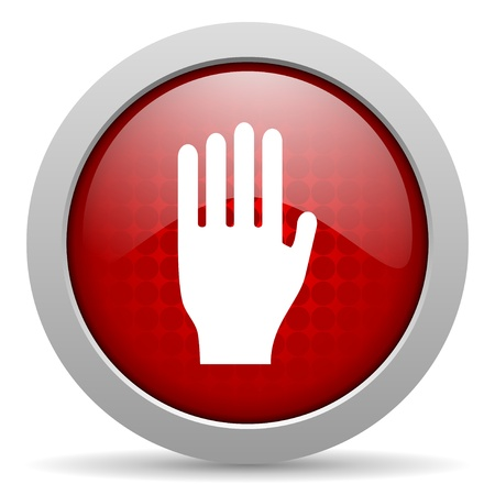 stop red circle web glossy icon Stock Photo - 19461789
