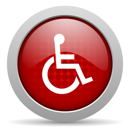 accessibility: accessibility red circle web glossy icon