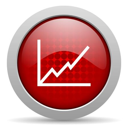 chart red circle web glossy icon  photo