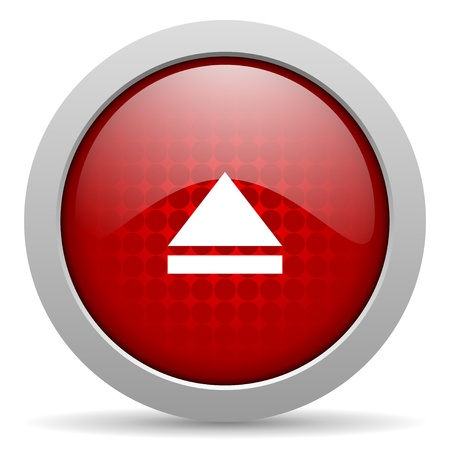 eject red circle web glossy icon  photo