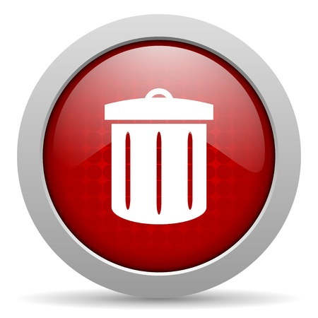 recycle red circle web glossy icon   photo