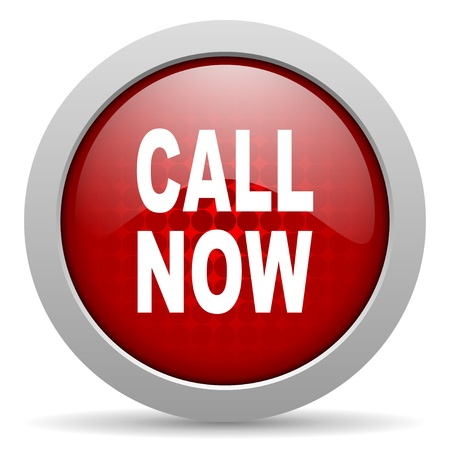 call now red circle web glossy icon  photo