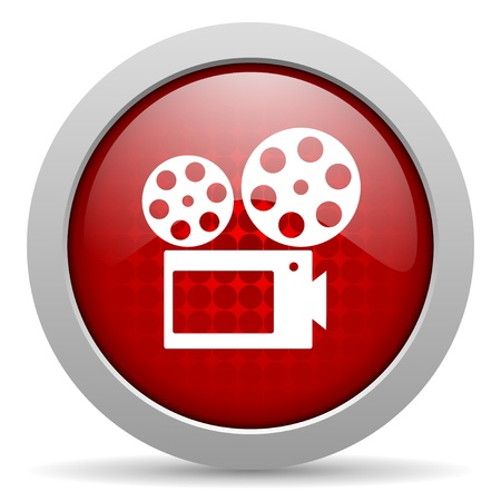 cinema red circle web glossy icon  photo