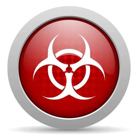virus red circle web glossy icon Stock Photo - 19468132