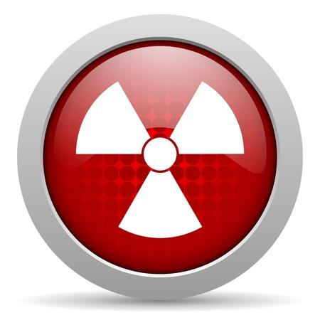 radiation red circle web glossy icon Stock Photo - 19463027