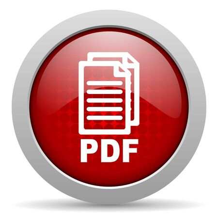 pdf: pdf red circle web glossy icon