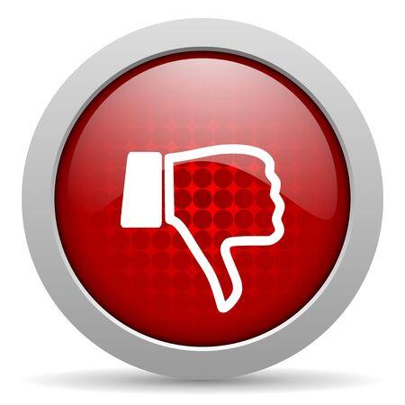 dislike red circle web glossy icon Stock Photo - 19467251