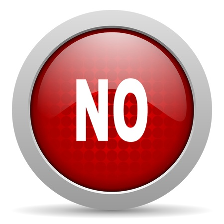 no red circle web glossy icon Stock Photo - 19463301