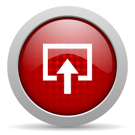 enter red circle web glossy icon  photo