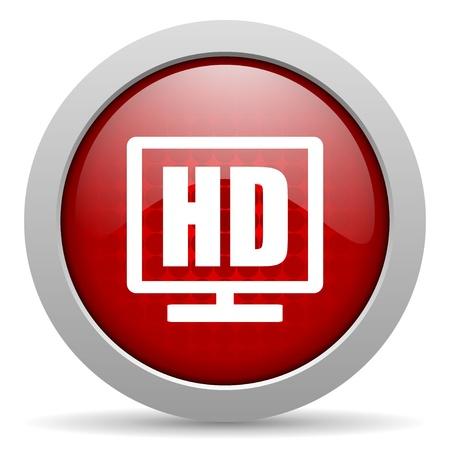 hd display red circle web glossy icon  photo