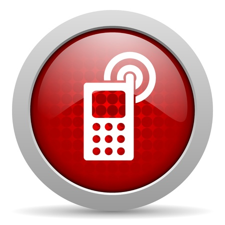 cellphone red circle web glossy icon  photo
