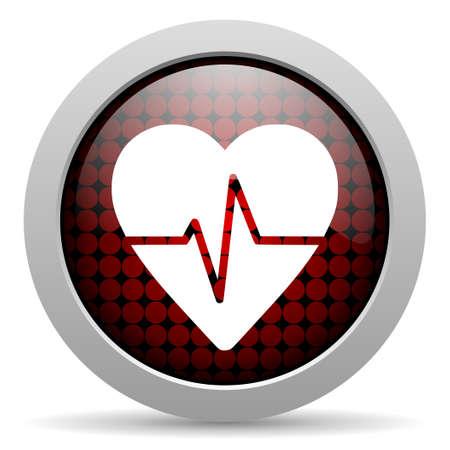 cardiogram glossy icon Stock Photo - 19506276