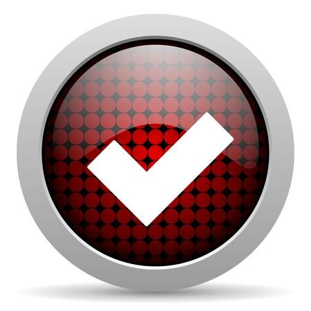 se soumettre �: accepter ic�ne sur papier glac� Banque d'images