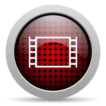 movie glossy icon  photo