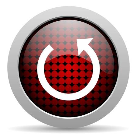 rotate: rotate glossy icon  Stock Photo