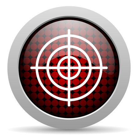 target glossy icon Stock Photo - 19506550