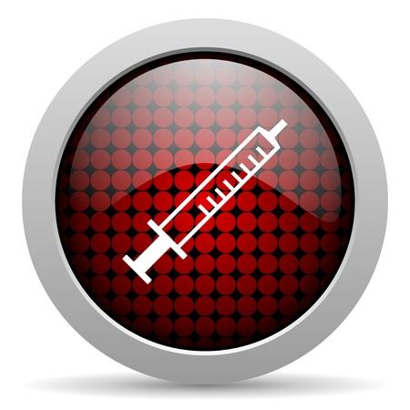 syringe glossy icon  photo