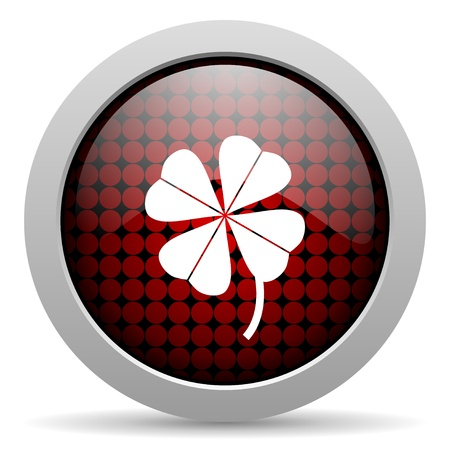 four-leaf clover glossy icon