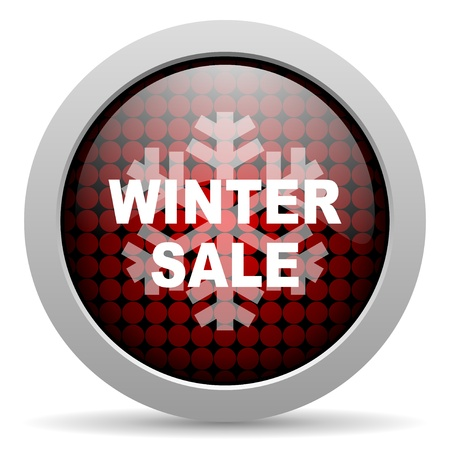 winter sale glossy icon  photo