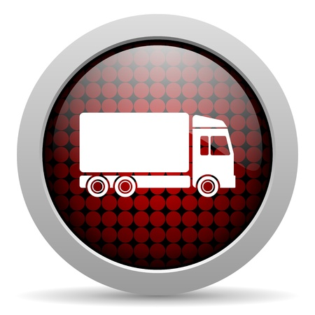 delivery glossy icon  photo