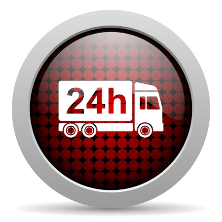 24h: delivery 24h glossy icon