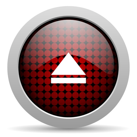 eject: eject glossy icon
