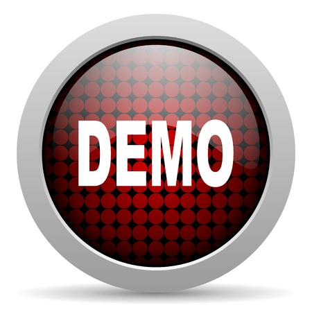 demo glossy icon  photo