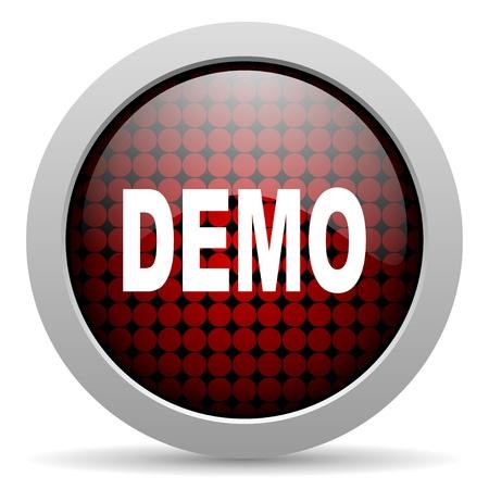 demo glossy icon Stock Photo