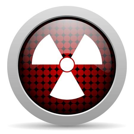 radiation glossy icon  photo