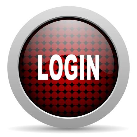login glossy icon  photo