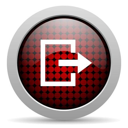 exit glossy icon  photo