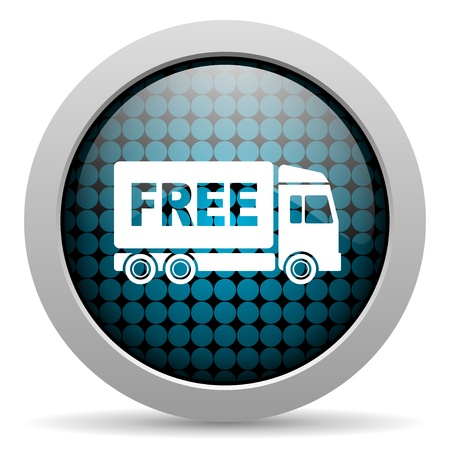 d�livrance: livraison gratuite ic�ne sur papier glac�