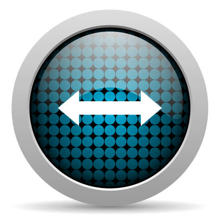 course of action: arrows glossy icon  Stock Photo