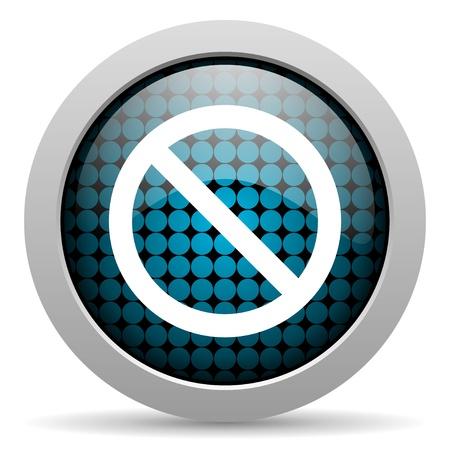 denied: access denied glossy icon