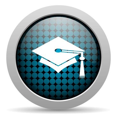 graduation glossy icon  photo