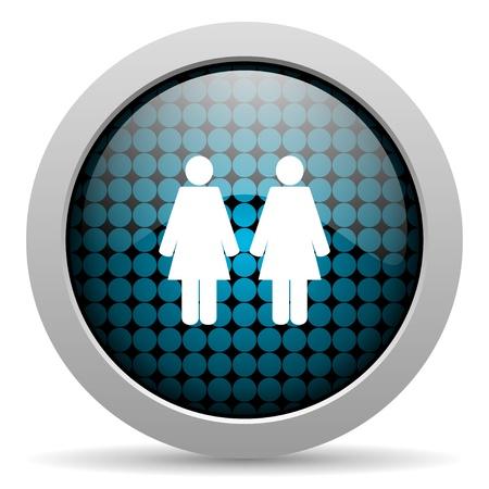 couple glossy icon  photo