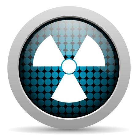 radiation glossy icon Stock Photo - 19511342