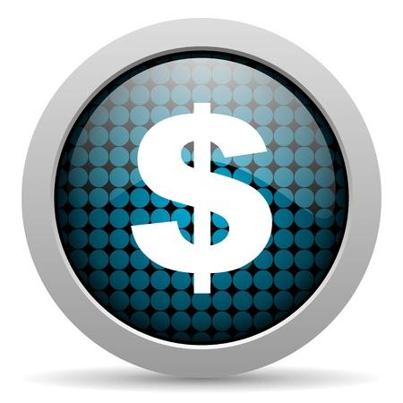 us dollar: us dollar glossy icon  Stock Photo