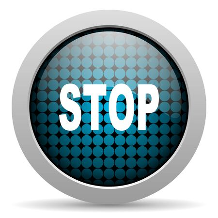 stop glossy icon  photo