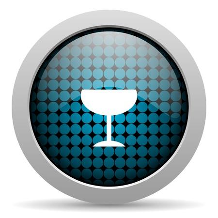 champain: glass glossy icon