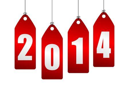 2014 new year illustration Stock Illustration - 19639852