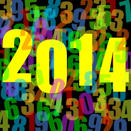 2014 new year illustration with numbers illustration
