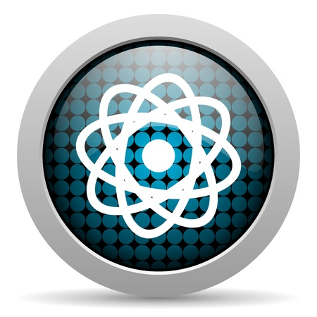 atom glossy icon  photo