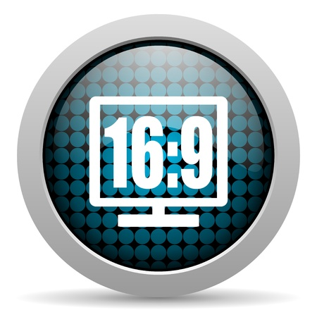 16 9 display glossy icon  photo