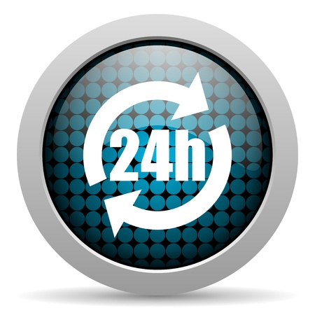 24h: 24h glossy icon