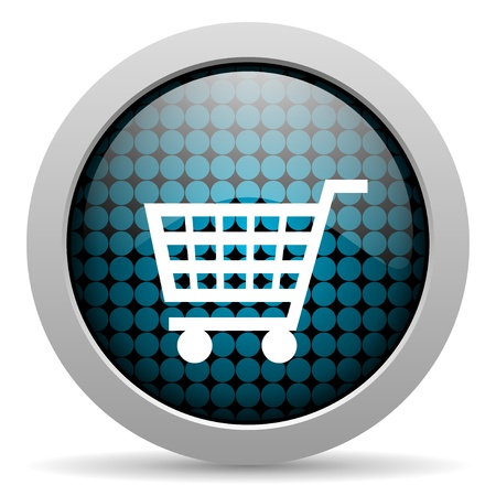 shopping cart glossy icon  photo