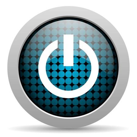 power glossy icon Stock Photo - 19640954