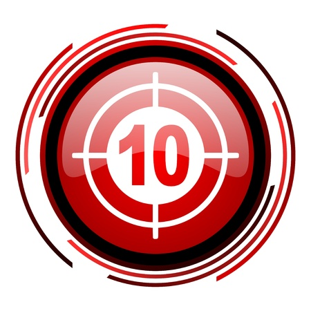 target red circle web glossy icon on white background Stock Photo - 19640904
