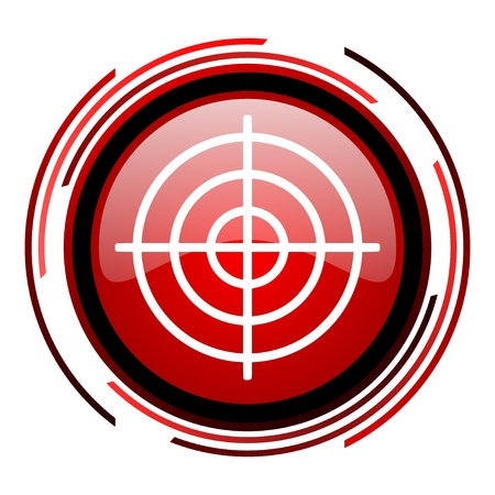 target red circle web glossy icon on white background  photo