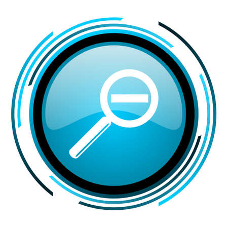 magnification: magnification blue circle glossy icon